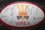 Signed rugby ball